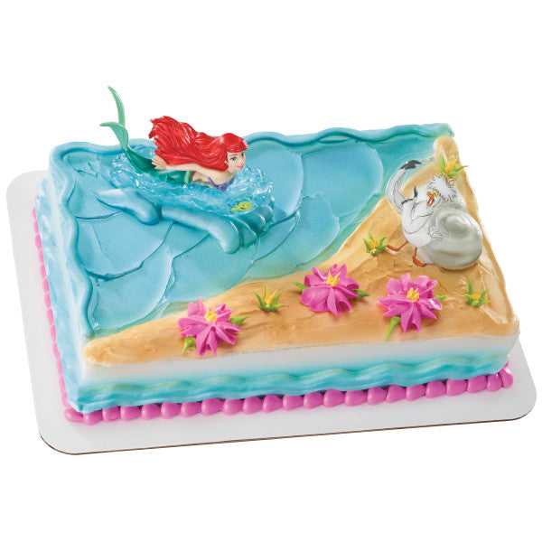 Disney Princess The Little Mermaid Ariel and Scuttle Cake Topper Decor Kit