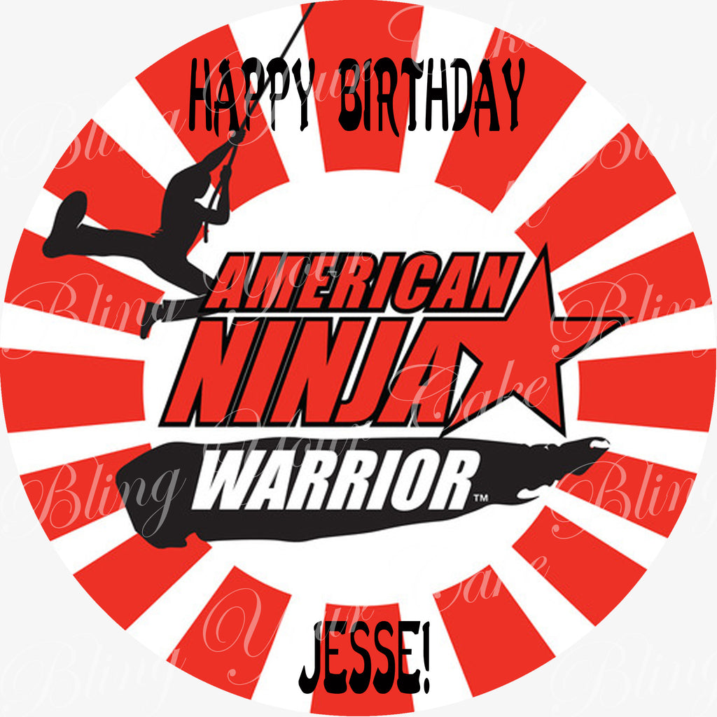 American Ninja Warrior Edible Icing Cake Decor Topper - ANW1