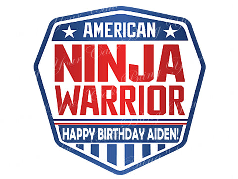 American Ninja Warrior Edible Icing Cake Decor Topper - ANW6