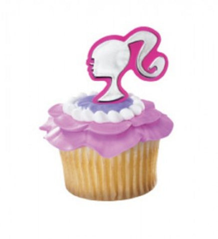10 Barbie Silhouette Cupcake Rings