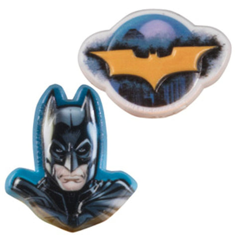 24 Batman the Dark Knight Cupcake Topper Rings