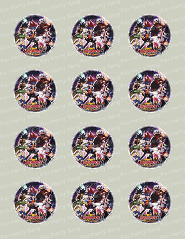 Beyblade Edible Icing Cupcake Decor Toppers - BB5