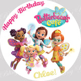 Butterbean's Cafe Round Edible Icing Sheet Cake Decor Topper