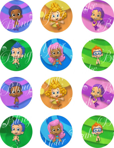 Bubble Guppies Character Inspired Edible Icing Cake Decor Toppers - BG3