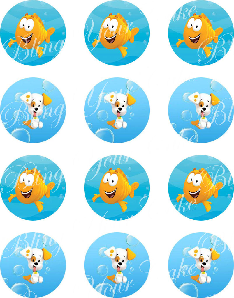 bubble guppies edible icing cake decor topper u2013 bling your cake