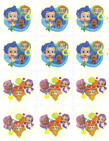 Bubble Guppies Guys and Gals Inspired Edible Icing Cake Decor Toppers - BG5