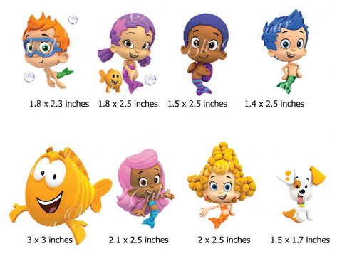 Bubble Guppies Edible Icing Cake Decor Topper - BG6