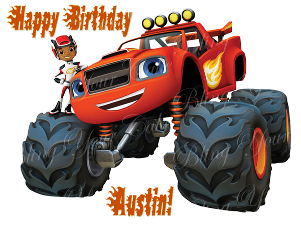 Blaze And The Monster Machines Edible Icing Cake Decor