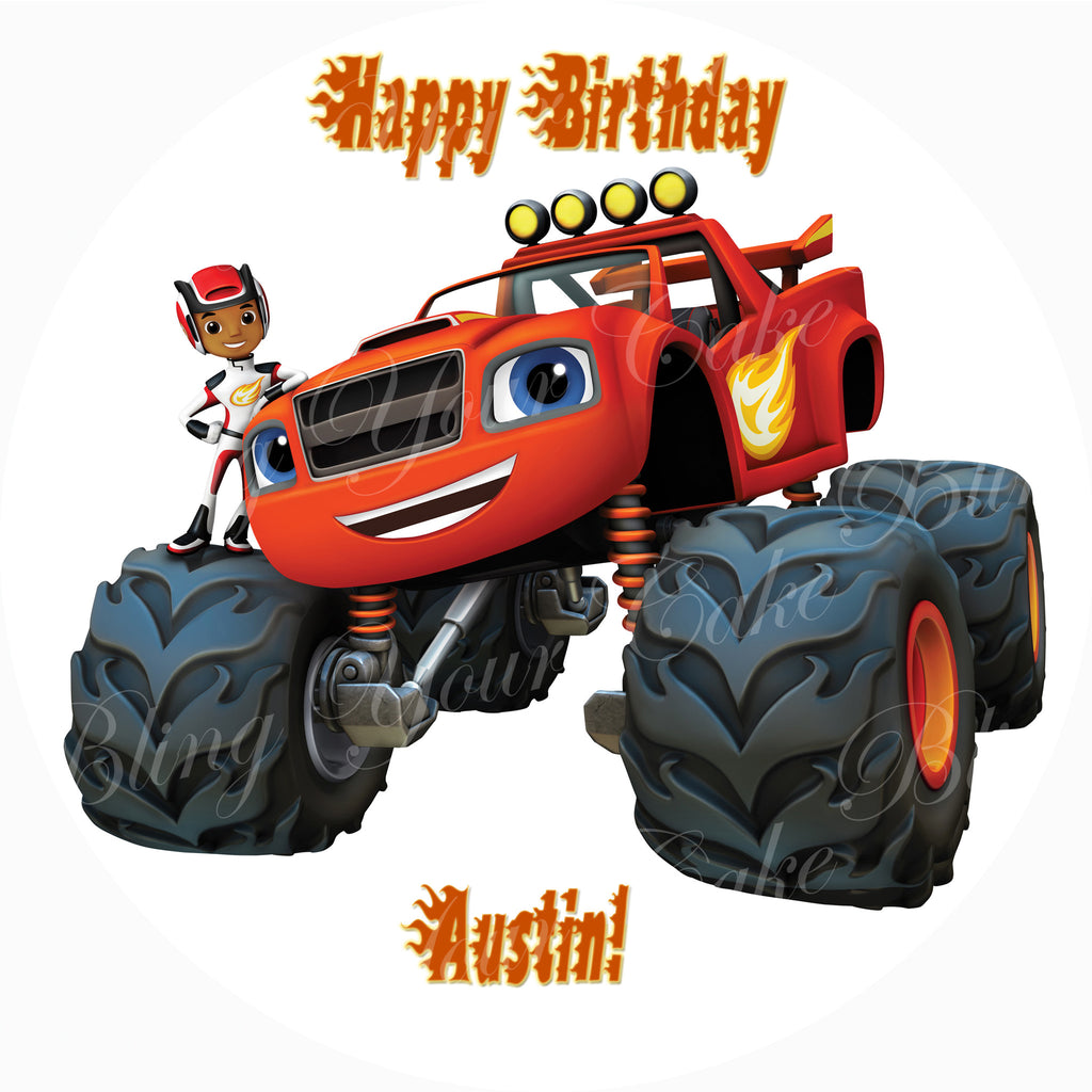 Blaze and the Monster Machines Edible Icing Sheet Cake Decor Topper - BMM2