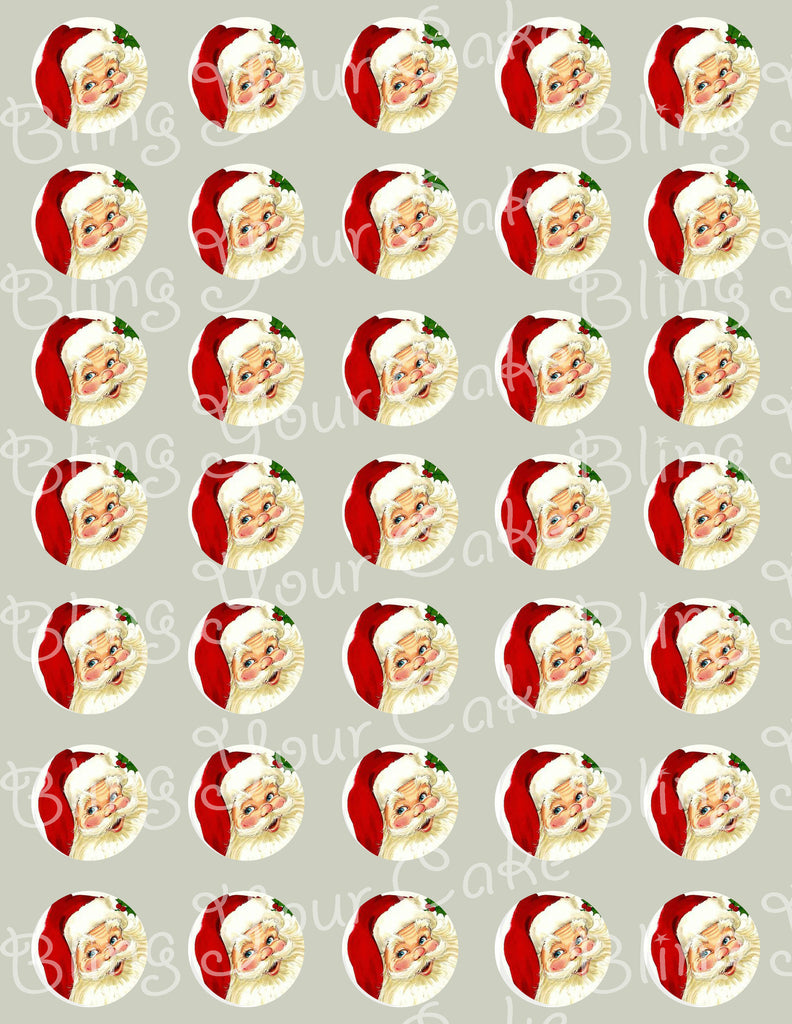 Santa Clause Edible Icing Cake Pop Decor Toppers - CHR2E