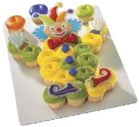 Silly Clown Cupcake Pop Top Cake Topper Decor Set