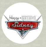 Disney Cars Logo Edible Icing Sheet Cake Decor Topper - DC1