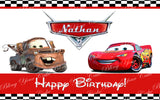 Disney Cars Lightning McQueen and Tow Mater Edible Icing Sheet Cake Decor Topper - DC4
