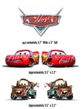 Disney Cars Logo, Mqueen and Mater Edible Icing Cake Decor Topper - DC9
