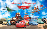 Disney Cars, Turbo, & Planes Edible Icing Sheet Cake Decor Topper