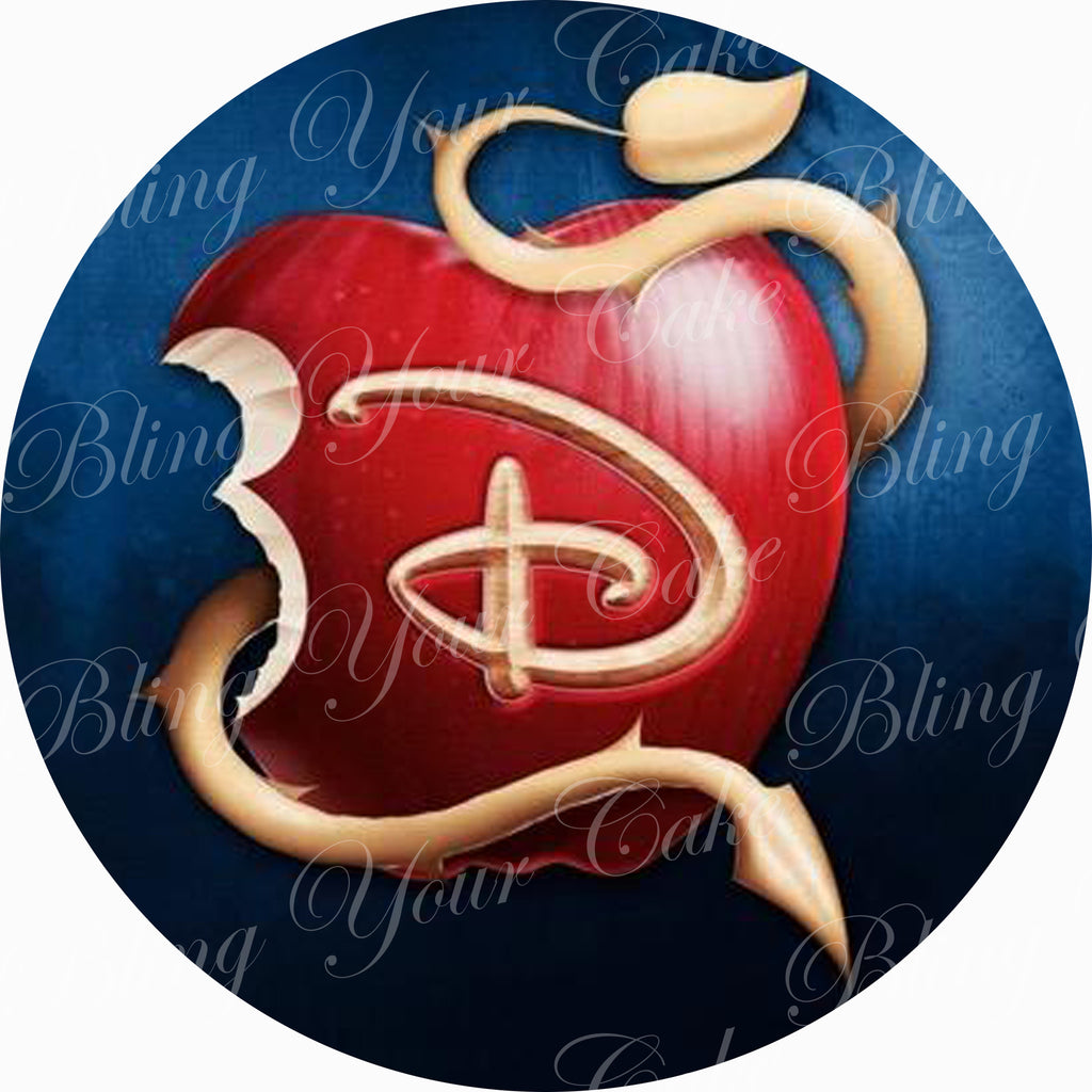 Disney Descendants Logo Edible Icing Sheet Cake Decor Topper - DD3
