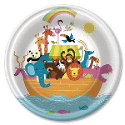 Noah's Whimsical Ark Dinner Plates
