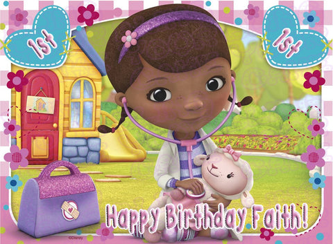 Doc McStuffins Edible Icing Sheet Cake Decor Topper - DOC4