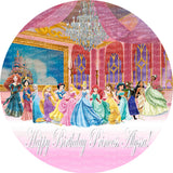 Disney Princess Royal Ball Edible Icing Sheet Cake Decor Topper featuring all the Disney Princesses