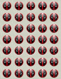 Deadpool Mask Edible Icing Sheet Cake Decor Topper - DPL3