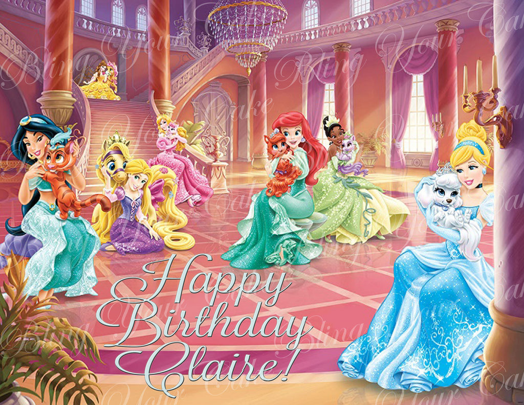 Disney Princess Palace Pets Edible Icing Sheet Cake Decor Topper - DPP1