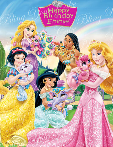 Disney Princess Palace Pets Edible Icing Sheet Cake Decor Topper - DPP2