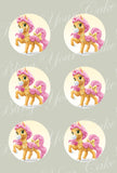 Disney Princess Palace Pets Belle's Pony Petit Edible Icing Cupcake or Cookie Decor Toppers - DPP6BEL