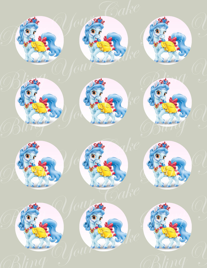 Disney Princess Palace Pets Snow White's Pony Sweetie Edible Icing Cupcake or Cookie Decor Toppers - DPP6SNO
