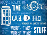 Doctor Who Wibbly-Wobbely Timey-Wimey Edible Icing Sheet Cake Decor Topper - DW2