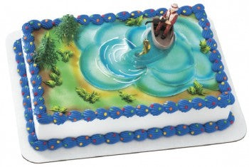 Fisherman with Action Fish Cake Decorating Topper