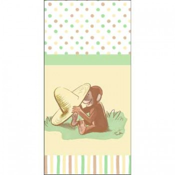 Curious George Cute and Curious Baby Tablecover