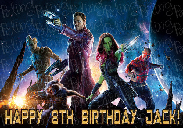 Guardians of the Galaxy Edible Icing Sheet Cake Decor Topper - GOTG1