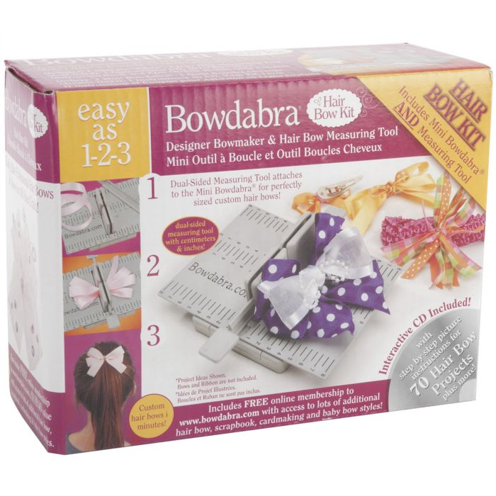 Darice Bowdabra Hair Bow Maker and Craft Tool, Gray