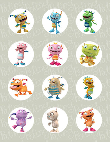 Henry Hugglemonster Inspired Edible Icing Cupcake Decor Toppers - HH2C