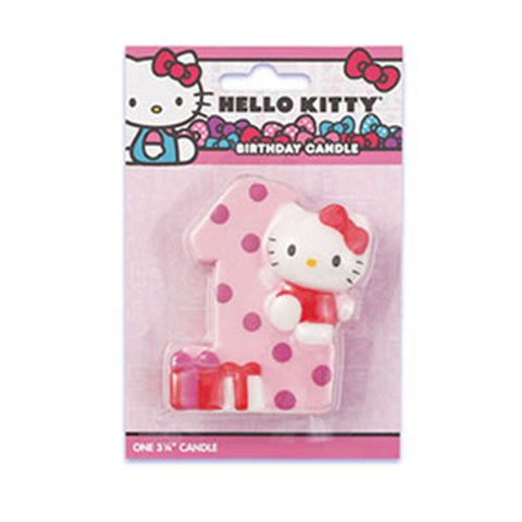 Hello Kitty 1st Birthday Candle
