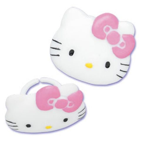 23 Hello Kitty Cupcake Topper Rings