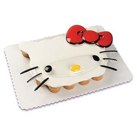 Hello Kitty Face Pop Top Cake Topper Set