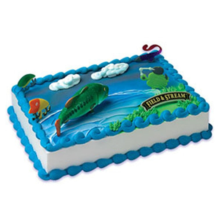 Field and Stream Bass Fish Cake Decor Topper