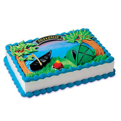 Field and Stream Camping Cake Decor Topper