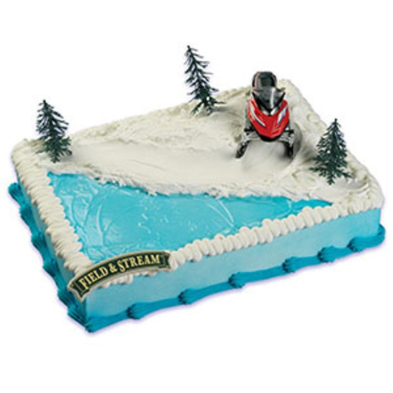 Field and Stream Snowmobile Cake Decor Topper