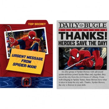 Spider Hero Spiderman Dream Party Invitations & Thank you Notes