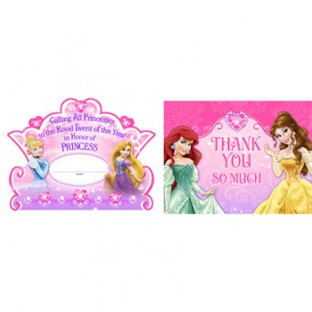 Disney (VIP) Very Important Princess Dream Party Invitations & Thank you Notes