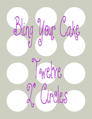 Design Your Own Single Image Edible Icing Cupcake Decor Toppers - DYOSC