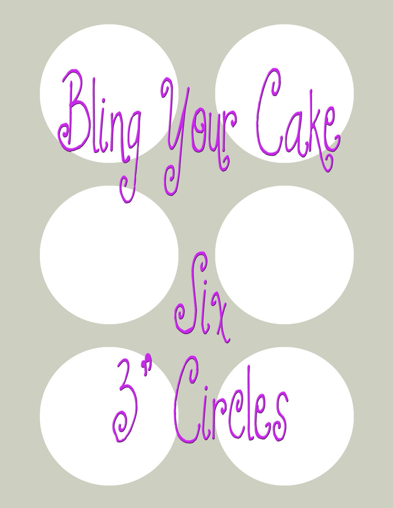 Design Your Own Single Image Edible Icing Cookie Decor Toppers - DYOSD