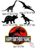 Jurassic Park Edible Icing Image for Cutout - Great for Stacked Cakes - JP5