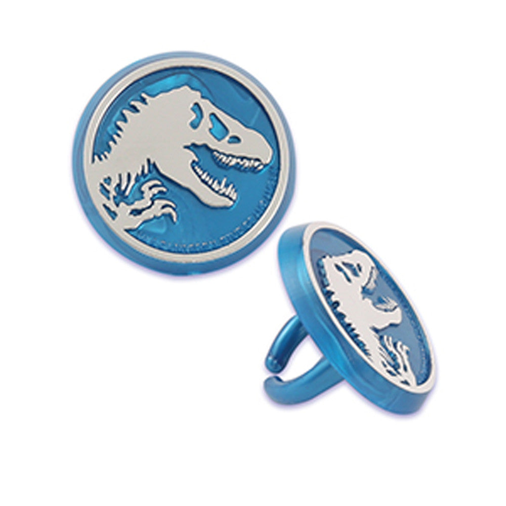 24 Jurassic World Cupcake Topper Rings