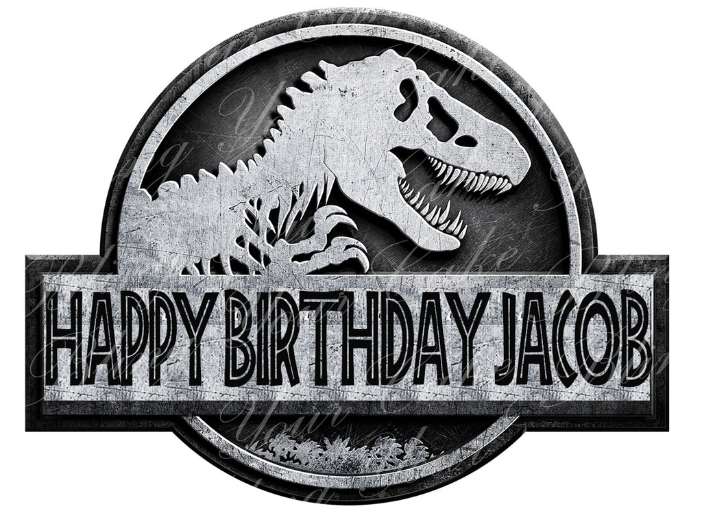 Jurassic World Edible Icing Sheet Cake Decor Topper - JW1