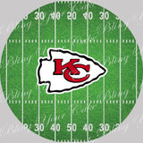 NFL Kansas City Chiefs Football Field Edible Icing Sheet Cake Decor Topper in your choice of size