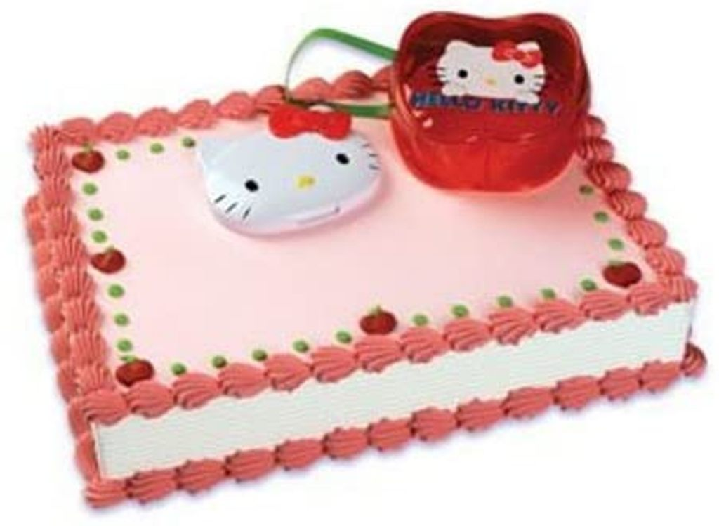 Hello Kitty Compact & Purse Cake Topper - Red Bow and Purse