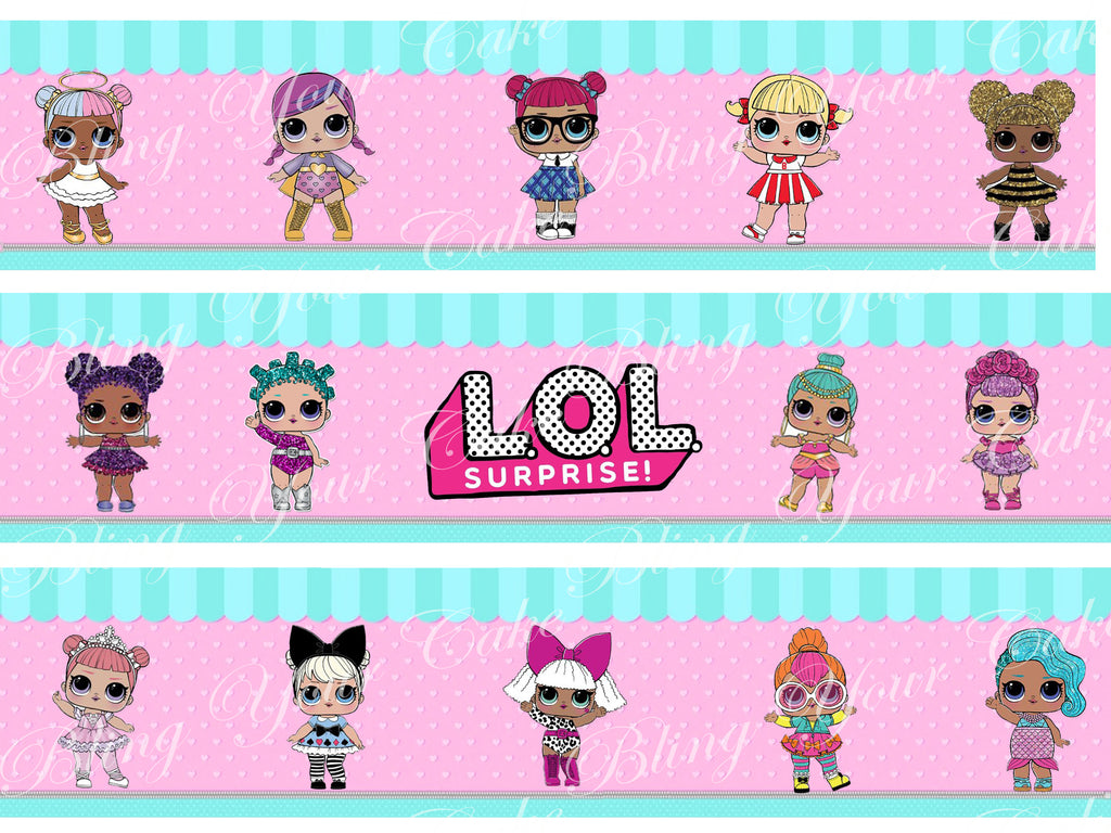 LOL Surprise Dolls Edible Icing Cake Wraps
